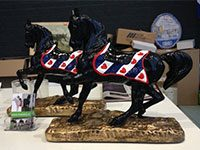 Mini Frieze horse (height  31 cm)